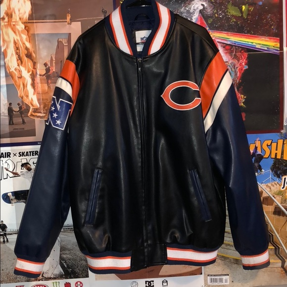 detailed look d78fc 078fa Chicago Bears Leather Jacket